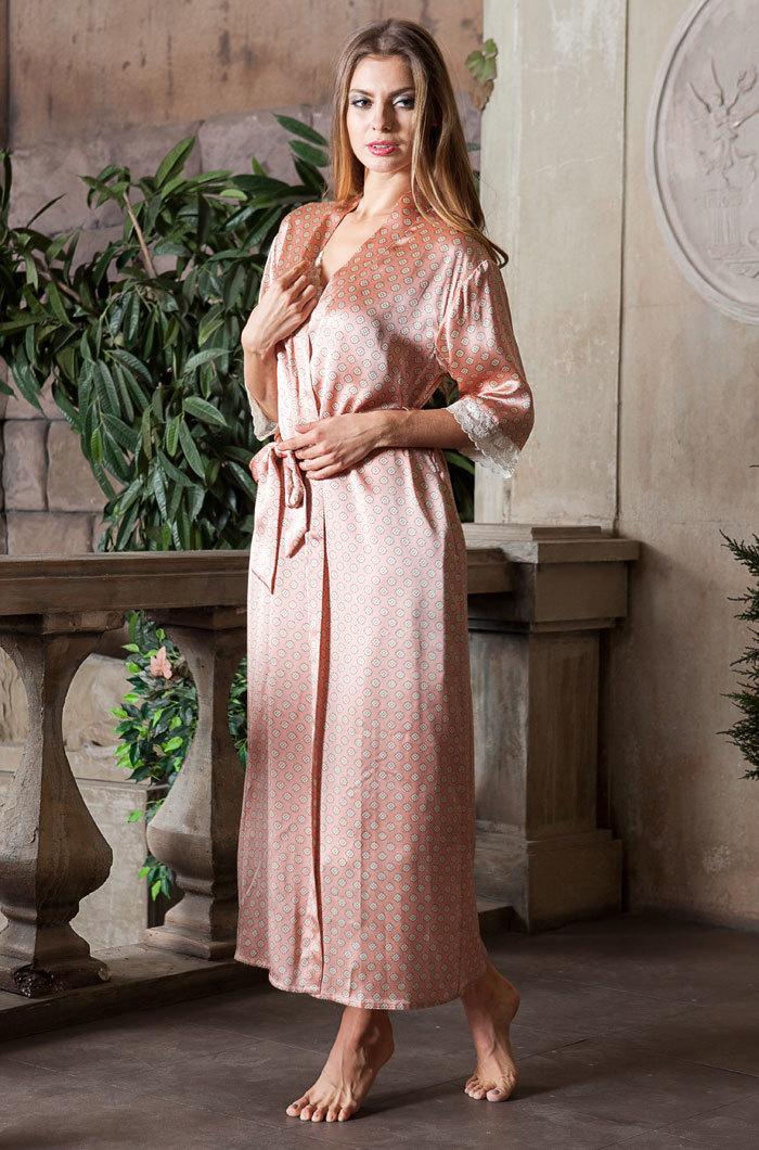 Шелковые халаты Халат женский натуральный шелк MIA-MIA   Agata АГАТА  15129 15129_big.jpg