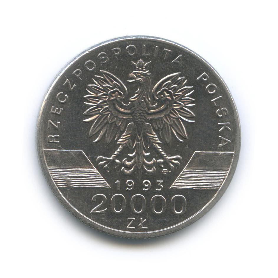 20000 злотых. Ласточка (животный мир) 1993 год, Польша. UNC
