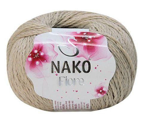 Пряжа Nako Fiore песочный 10308