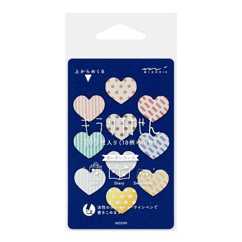 Стикеры Midori Sticky Paper Film Kirari - Heart