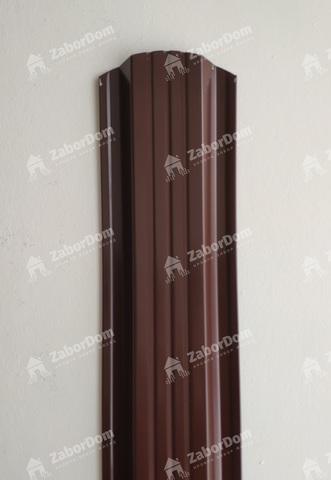 Евроштакетник металлический 115 мм RAL 8017 П - образный 0.5 мм