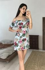 Флирт. Летнее легкое платье на тонких бретелях