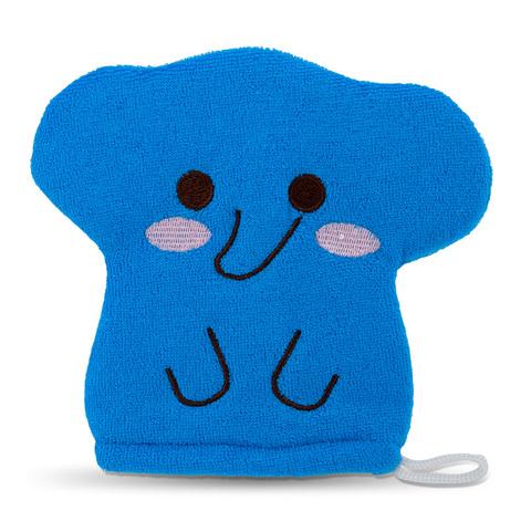 Детская рукавичка для мытья тела Синий Слоненок