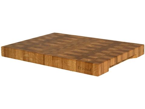 деревянная Торцевая разделочная доска 55x40x5 см. дуб