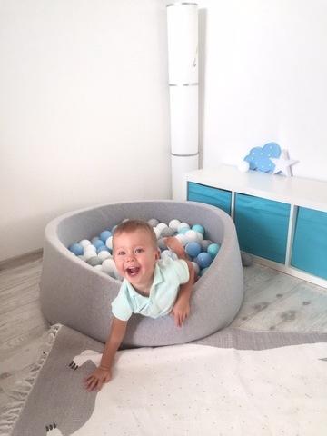 Сухой бассейн серый 100/30см  Anlipool комплект Sea foam