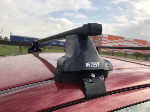 Багажник на Kia Rio IV  седан 2017-... за дверной проем прямоугольные дуги 120 см.
