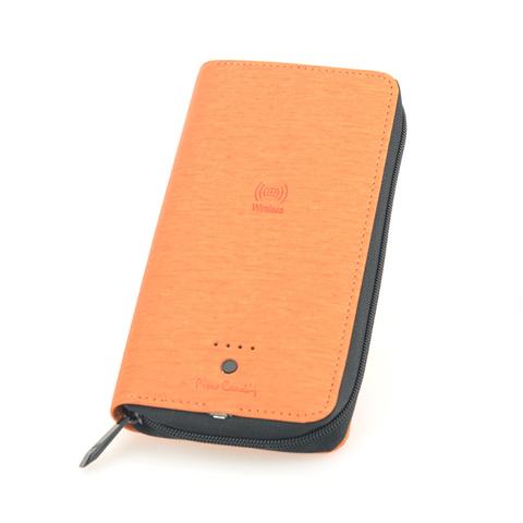 Кошелек Pierre Cardin  (MK037-6) с рower bank оранжевый 205х11х3 см