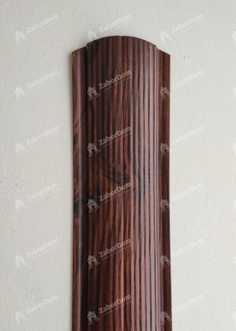 Евроштакетник металлический 110 мм Красный каштан фигурный 0.5 мм