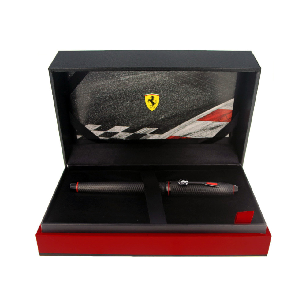 Cross Selectip Townsend - Ferrari Brushed Black Etched Honeycomb Pattern/Black PVD, ручка-роллер