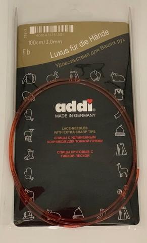 Спицы круговые с удлиненным кончиком, №3, 100 см ADDI Германия арт.775-7/3-100