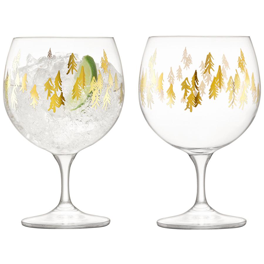 Набор из 2 круглых бокалов Fir Metallic, 525 мл lsa набор кофейных пар fir metallic 4 предмета 100 мл белый золотистый