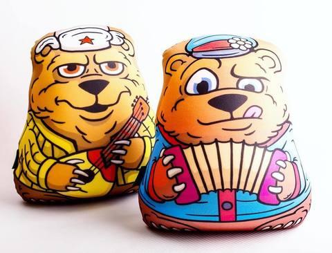 Подушка-игрушка антистресс «Медведь с балалайкой» 5