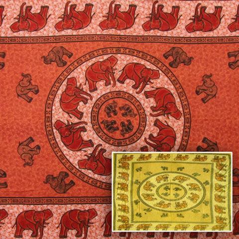 Покрывало  Круг слонов односпальное