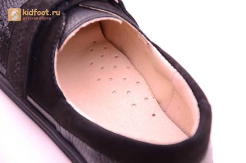 Ботинки для мальчиков из натуральной кожи на липучках Лель (LEL), цвет черный. Изображение 16 из 18.