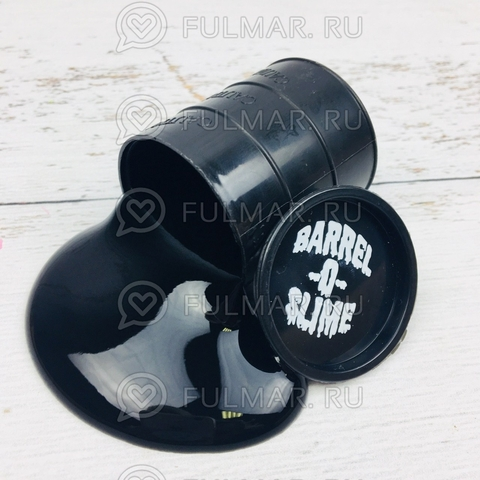 Лизун слайм в бочке Barrels O Slime маленький Чёрный
