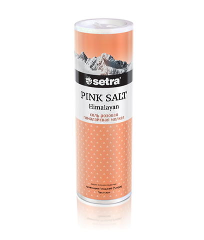 Соль гималайская «Setra» розовая мелкая 250 г