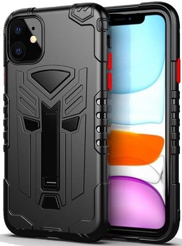 Чехол для iPhone 11 серии Dual X с магнитом и складной подставкой, черного цвета, Caseport