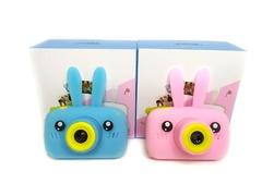 детский фотоаппарат зайка розовый голубой коробочки
