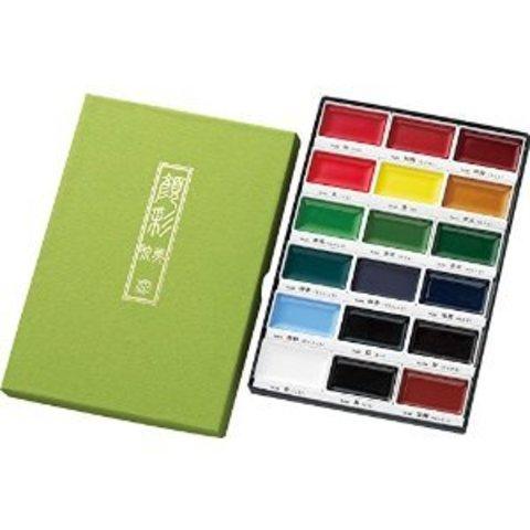 Набор профессиональной японской акварельной краски Gansai Tambi 18цв