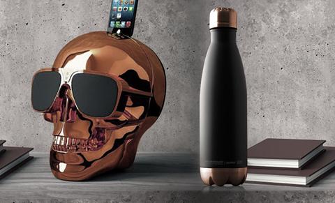 Термос-бутылка Asobu Central park (0,51 литра), черная/медная