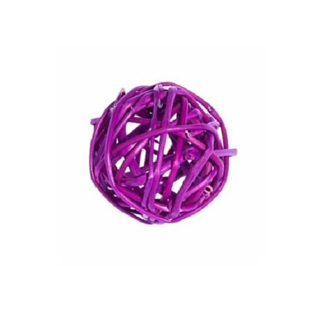 Плетеные шары из ротанга (набор:12 шт., d3см, цвет: фиолетовый)