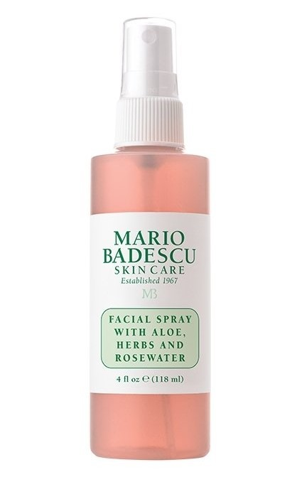 Спрей для лица Mario Badescu with aloe, herbs and rosewater розовый 118мл