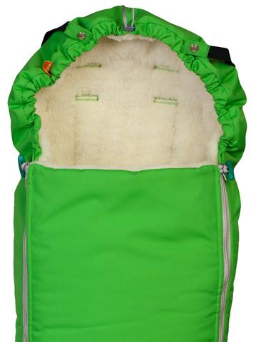 Чудо-Чадо. Конверт меховой Комфорт, ярко-зеленый, вид 1