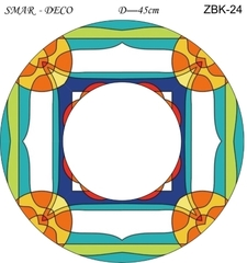 Эскиз для росписи, Зеркало диаметр-45см, SMAR-ZBK-24