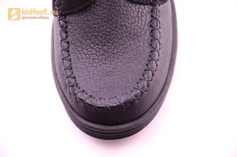 Ботинки для мальчиков из натуральной кожи на липучках Лель (LEL), цвет черный. Изображение 18 из 18.