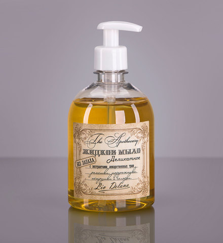 Liv delano The Apothecary Жидкое мыло деликатное с экстрактами лекарственных трав ромашки, подорожника, петрушки и солодки. Без запаха. 480г