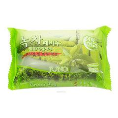 Juno Green Tea Peeling Soap - Мыло с отшелушивающим эффектом с зеленым чаем