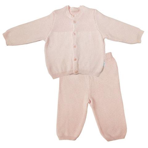 Папитто. Комплект кофточка и штанишки с принтом, розовый
