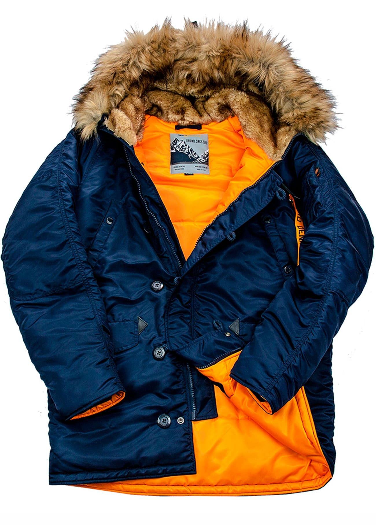 Куртка Аляска N-3B  Husky Denali 2019 (синяя - r.blue/orange)