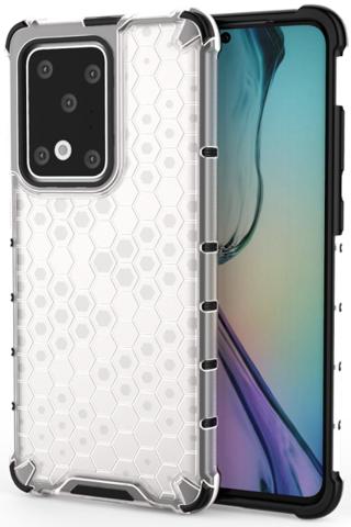 Прозрачный чехол на Samsung Galaxy S20 Ultra, ударопрочный  от Caseport, серия Honey