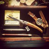 Нож складной филейный Opinel №8 VRI Folding Slim Beechwood