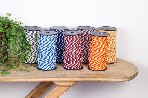 Витой хлопковый шнур 7 мм, 10 цветов