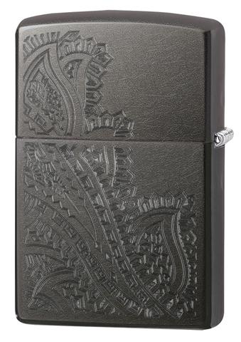Зажигалка Zippo Classic с покрытием Gray, латунь/сталь, серая, матовая, 36x12x56 мм123