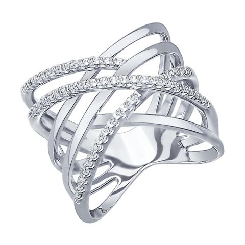 94012042- Кольцо из серебра с фианитами от SOKOLOV