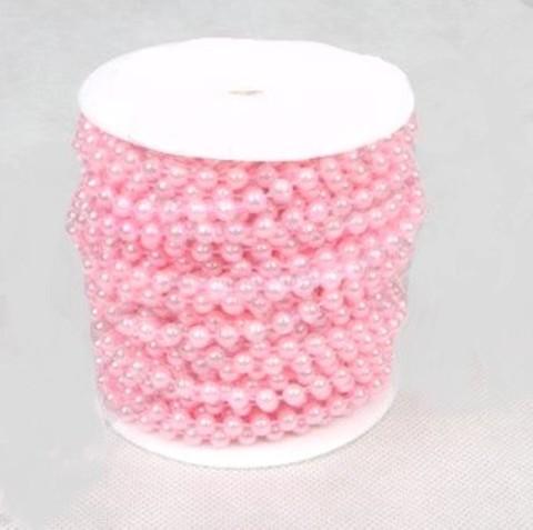 Бусы на бобине (размер: 6мм х 20м) Цвет:светло-розовый