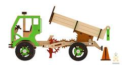 Самосвал (M-WOOD) - Деревянный конструктор, 3D пазл, сборная модель