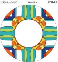Эскиз для росписи, Зеркало диаметр-45см, SMAR-ZBK-25