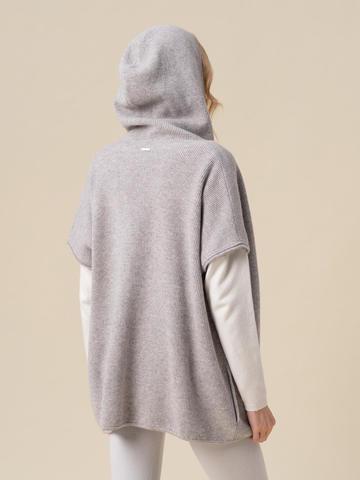 Женский жилет светло-серого цвета из 100% кашемира - фото 2