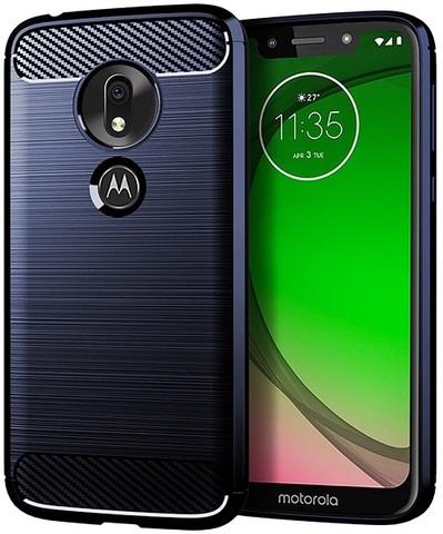 Чехол Motorola Moto G7 Play цвет Blue (синий), серия Carbon, Caseport