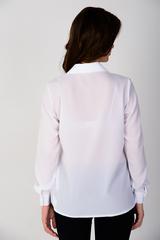 """<p>Классическая рубашка, выполнена из креп-шифона. Ворот на стойке, длинный рукав на манжете. Рекомендуем в комплекте с жилетом """"Бланка"""". (Длина: 44-52 = 66см;)</p>"""