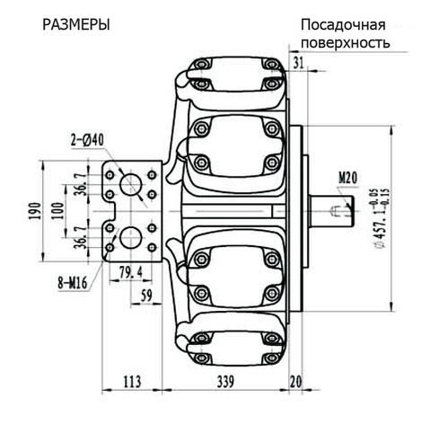 Гидромотор IPM9-4400