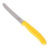 Нож Victorinox для томатов и сосисок лезвие 11 см волнистое, желтый