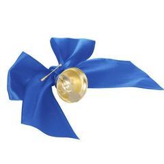 Колокольчик выпускной с темно-синим бантом