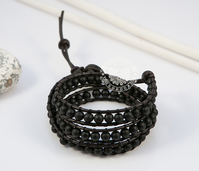BS692-1 Браслет Chan Luu ручной работы из шунгита