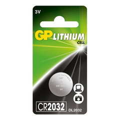 Батарейки GP CR2032, 3V, литий, бл/1