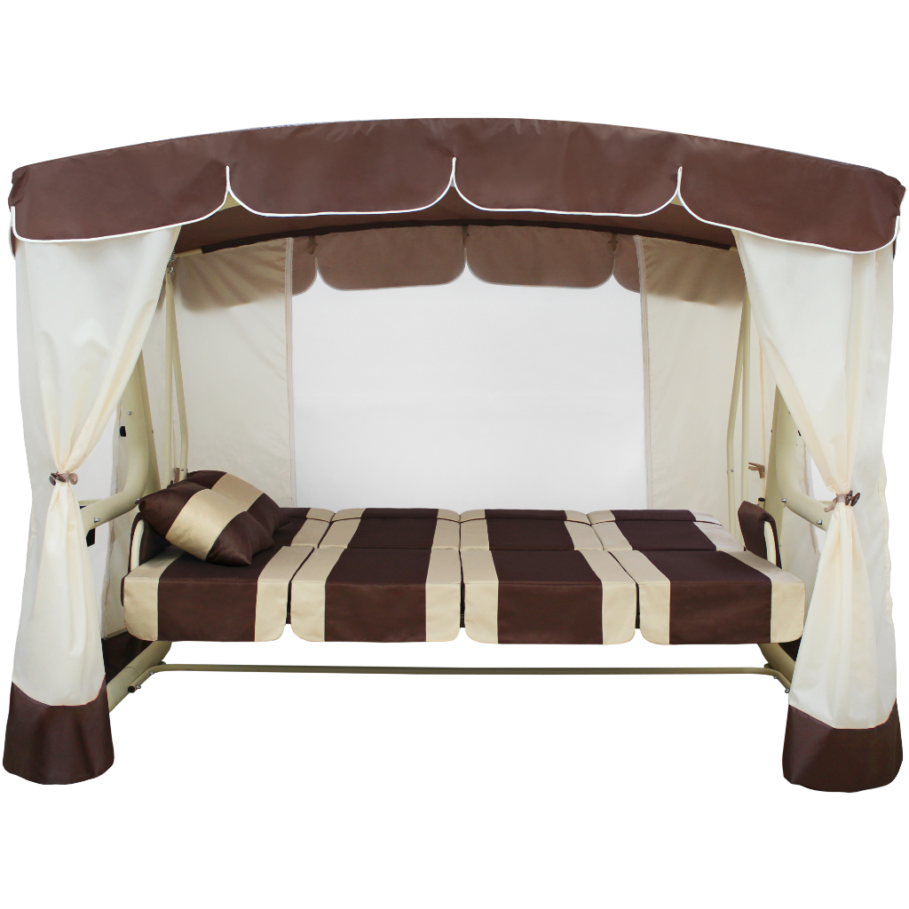Эдем Люкс белый-шоколад кровать